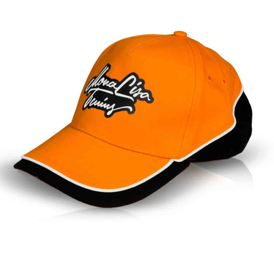 MonaLisa Twins Orange Baseball Cap Hat side left