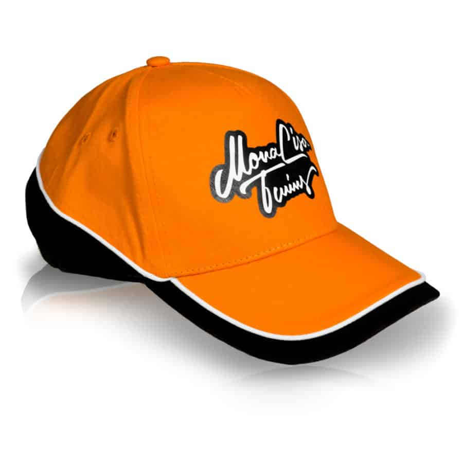 MonaLisa Twins Orange Baseball Cap Hat side Right