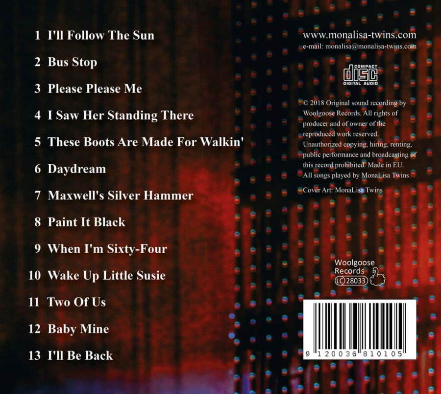 MonaLisa Twins play Beatles & more Vol. 2 Cover Back